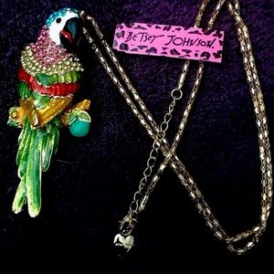 Betsey Johnson Huge Parrot Necklace